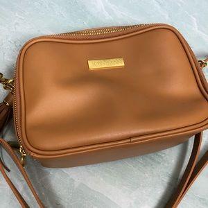 NWOT Joy & Iman tan crossbody RFID leather handbag